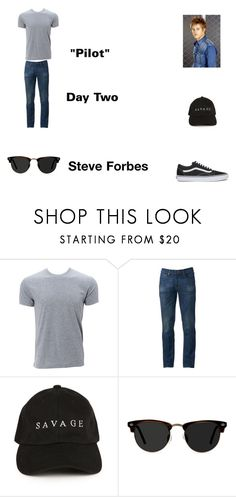 """""""Steve Forbes Worlds Colliding (The Vampire Diaires) 1.01 """"Pilot"""" by jdefloria on Polyvore featuring Urban Pipeline, Ace, Vans, men's fashion and menswear"""