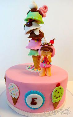 Ice Cream Cone Kawaii Cake -
