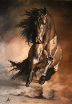 40 Striking Horse Paintings Like You Have Never Seen Before striking horse painting like you have never seen before… I am sure, you will be stunned to see these horses, because I was just gazing at them, and that' Most Beautiful Horses, Pretty Horses, Horse Love, Animals Beautiful, Dark Horse, Horse Drawings, Animal Drawings, Cavalo Wallpaper, Arte Equina