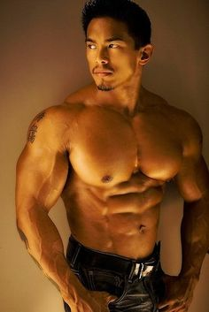 Image result for muscular asian male