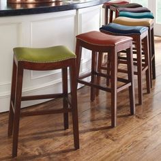 Still looking for stools for the kitchen island. Kinda diggin' these. Julien Leather Bar Stool