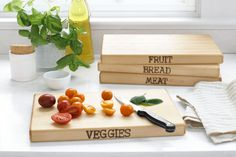 Hand-Stamped Cutting Board