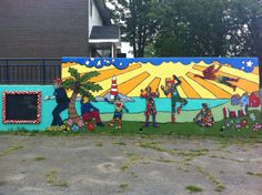 Mural created by the 4Cs Foundation Art Bikers and the Bayers Westwood Community, located on McAlpine Avenue. Photo snapped by Tara Grude.