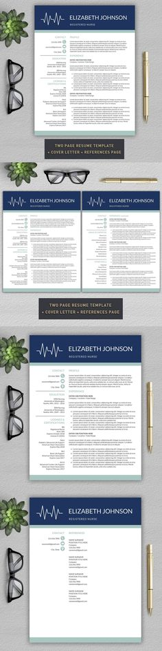 Resume / CV Template AI, EPS - A4 Resume Templates Pinterest