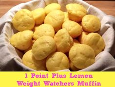 Lemon Weight Watchers Muffins 1 Points Plus Value . Recipe Breads, Desserts with lemon cake mix, lemon yogurt, water Ww Recipes, Low Calorie Recipes, Light Recipes, Cooking Recipes, Healthy Recipes, Healthy Meals, Healthy Eating, Healthy Food, Diabetic Recipes