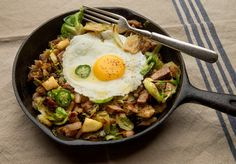 Hash is the ultimate weekend breakfast or lunch. This one, made with roast turkey, is ideal made with holiday leftovers. Actually, you could probably come up with a pretty good hash using only cooked leftovers from the fridge: Chop up the turkey and add whatever leftover cooked vegetables remain. But for a turkey hash that tastes fresher, start with new vegetables, like a bunch of parsnips cut in cubes and a few slivered brussels sprouts. (Photo: Fred R. Conrad/The New York Times)