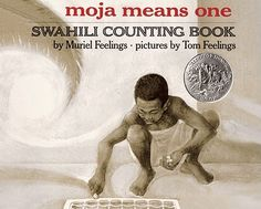 1992 Muriel Feelings, Tom Feelings - Moja Means One: Swahili Counting Book [Puffin 9780140546620] #bookcover