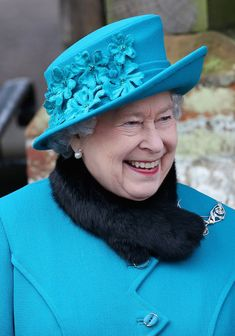 Queen Elizabeth II Photos Photos - Queen Elizabeth II smiles as she leaves St Mary Magdalene Church after attending the traditional Christmas Day church service on December 25, 2012 in Sandringham, near King's Lynn, England. - The Royal Family Attend Christmas Day Service At Sandringham