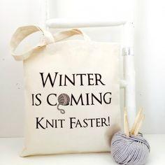 Tibialia – Winter Is Coming Knit Faster – Strikkeveske håndarbeidsveske fra Kelly Connor Designs