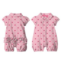 Magnetic Me Butterfly Pique Polo Romper  is great for girls to wear.  The Magnetic fastener is great for faster changing.