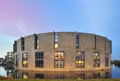Dragoon, LEVS Architecten. #housing #brick facade, fortress with a moat