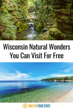 Discover some of Wisconsin's best and most beautiful natural wonders for free! Enjoy beaches, waterfalls, rock formations, caves, parks, and more. Rv Travel, Places To Travel, Travel Destinations, Places To Visit, 7 Natural Wonders, Best Bucket List, Hidden Beach, Magical Forest, Rock Formations