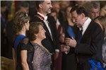 El presidente del Gobierno, Mariano Rajoy, asistió con chaqué a la recepción que dieron Felipe VI y Doña Letizia en el Palacio Real de Madrid a la presidenta de Chile, Michelle Bachelet. Foto: Gtres.