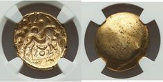 GAUL. Ambiani. Ca. 59-50 BC. AV stater NGC Choice AU 5/5 - 4/5. - Gold Coins - Coins Celtic Culture, Rare Coins, Gold Coins, Food, Meal, Eten, Meals