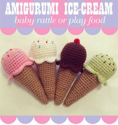 At last! my amigurumi crochet ice cream pattern is available for you to make