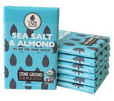 The Chocolate Path - Taza Stone Ground Sea Salt & Almond Amaze Bar - The Chocolate Path