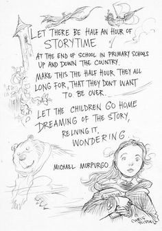 Michael Morpurgo on storytime, illustrated by Chris Riddell