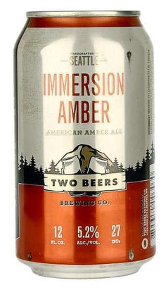 Two Beers Immersion Amber Ale Can