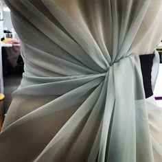 #gillesmendel Light draping on silk chiffon...#JMendel #OMGilles