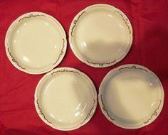 """Royal Bayreuth China 6"""" Plates Set of 4 - Germany US Zone Color Mark 1946 - 1949 #RoyalBayreuth"""