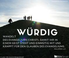 Nachzulesen auf BibleServer | Philipper 1,27