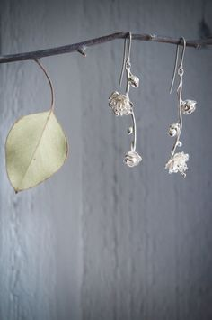 Sterling silver sakura earrings  flower earrings  by TheManerovs