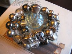 New Chunky Express Brand 3-Strand Beaded Cheetah & Silvertone Bracelet w/Bag in Bracelets | eBay