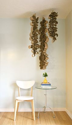 Positively Splendid {Crafts, Sewing, Recipes and Home Decor}: Ceiling Pendant Tutorial by H is for Handmade Toilet Paper Roll Art, Rolled Paper Art, Toilet Paper Roll Crafts, Toilet Art, Diy Paper, Cardboard Sculpture, Recycled Art, Ceiling Pendant, Paper Flowers