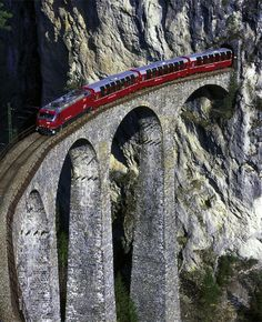 ITALY. Rhaetian Railway in the Albula / Bernina Landscapes. (Also pinned to the board for Switzerland. Too pretty to share only once.)