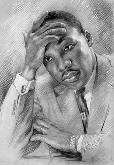 Martin Luther King Jr by Ylli Haruni ~ pencil portrait