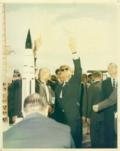 President John F. Kennedy and Dr. Wernher Von Braun, brought over from Germany in Operation Paperclip after World War II, at Cape Canaveral, Florida - November 1963 Cape Canaveral, Space Race, Florida, Man On The Moon, John F Kennedy, Space Program, Thats The Way, Us Presidents, Jfk