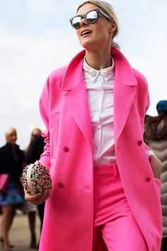 Pink Jacket and Pants image via The Sartorialist