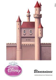 Snow White Castle - page 2 of 5 Disney Princess Castle, Disney Princess Snow White, Disney Diy, Disney Crafts, Imprimibles Toy Story Gratis, Paper Art, Paper Crafts, Ever After Dolls, Disney Princesses And Princes