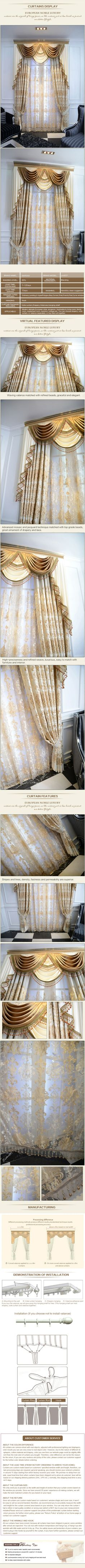 luxurious window curtain - Marian $161 (55% off)