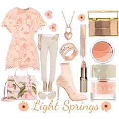 Fashion set Light Springs created via Light Spring Palette, Spring Color Palette, Spring Colors, Clear Spring, Warm Spring, Lit Outfits, Color Me Beautiful, Colourful Outfits, Fashion Colours