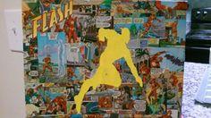 The Flash comic collage