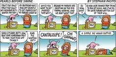 Pearls Before Swine: Cantaloupe. Stephan Pastis #GoComics #Humor #Funnies