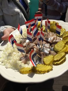 Pickled Herring, Chopped Onion and Pickles, Amsterdam Food Tour