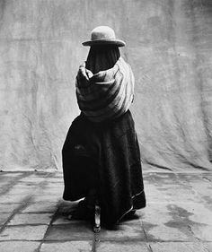Irving Penn - Girl wrapped in mystery, Christmas at Cuzco, Peru, 1948