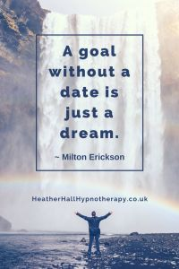 A goal without a date is just a dream - Milton Erickson Quote