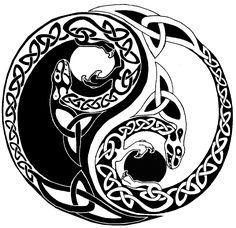 Celtic knot yin-yang  http://fc02.deviantart.net/fs71/f/2010/198/6/c/Celtic_yin_yang_dragons_by_FullmetalDevil.png