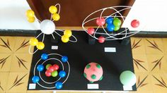 Atom Model Project, Science Project Models, Chemistry Projects, Science Projects, Diy Projects, My Little Kids, Library Themes, High School Chemistry, Scientific Journal
