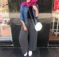 Hijab Fashion Tendance Chic 2019 - Hijab Fashion and Chic Style Hijab Fashion Summer, Modern Hijab Fashion, Hijab Fashion Inspiration, Muslim Fashion, Modest Fashion, Fashion Outfits, Women's Fashion, Fashion Trends, Modest Dresses