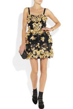Dolce & Gabbana Embellished mesh dress – 75% at THE OUTNET.COM