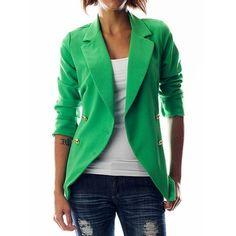 green jacket-great with dark denim