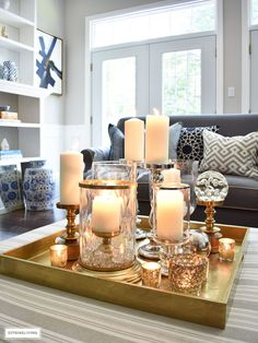 Use statement-making style tips to decorate with confidence - I'm sharing 3 ways to style your coffee table or ottoman - get these no-fail decorating tips!