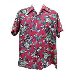 1940's Rare Kilohana Pineapple Hut  Hawaiian Shirt | 1stdibs.com