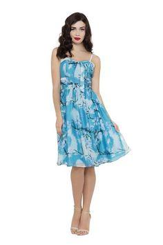 Cloudy Blue Summer Dress