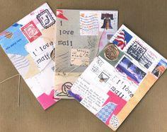 I LOVE MAIL - a limited edition 20 page mini zine by JaguarSnail - mail art, postal theme via Etsy