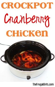 Crockpot Cranberry Chicken Recipe! ~ from TheFrugalGirls.com {such an easy and yummy Slow Cooker Dinner ~ a taste of the holidays all year long!} #slowcooker #recipes #thefrugalgirls